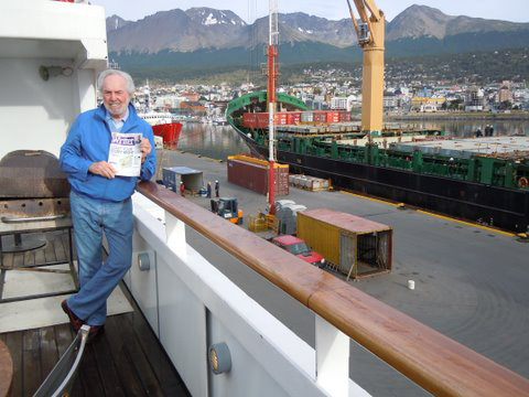 Writer David Collins is in the most southern city in the world - Ushuaia, Argentina