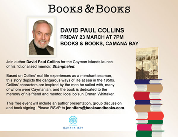 Author David Collins to speak at Books & Books, Camana Bay